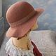 """Шляпы ручной работы. Заказать шляпка """"Бохо"""". ZIMa    (Ирина)          FeltHouse. Ярмарка Мастеров. Валяные шляпы, шляпка бохо, шляпки"""