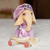 """Куклы и игрушки ручной работы. Ярмарка Мастеров - ручная работа Слоник """"Ариша"""". Handmade."""