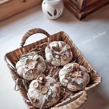 Куклы и игрушки ручной работы. Ярмарка Мастеров - ручная работа Текстильные игольницы в стиле шебби.Тильда-игольницы. Handmade.