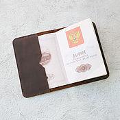 Органайзер ручной работы. Ярмарка Мастеров - ручная работа Обложка на паспорт - Шоколадная. Handmade.