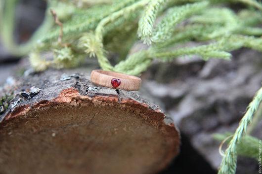 Кольца ручной работы. Ярмарка Мастеров - ручная работа. Купить деревянное кольцо с полудрагоценным камнем. Handmade. Подарок девушке, якаранда