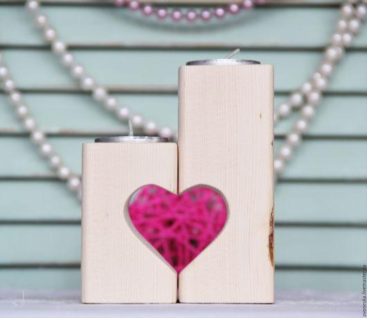"""Подсвечники ручной работы. Ярмарка Мастеров - ручная работа. Купить Эко подсвечник """"Сердце"""". Handmade. Белый, свадьба, сердце"""