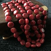 Бусины ручной работы. Ярмарка Мастеров - ручная работа Бусина 9 мм Круг (21), коралл. Handmade.