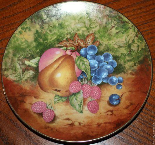 Винтажные предметы интерьера. Ярмарка Мастеров - ручная работа. Купить Две красивые тарелки с изображением фруктов, Bareuther, Германия. Handmade.