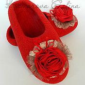 """Обувь ручной работы. Ярмарка Мастеров - ручная работа женские валяные тапочки """"Восторг"""". Handmade."""