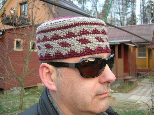 """Для мужчин, ручной работы. Ярмарка Мастеров - ручная работа. Купить Шапка """"Осень-2"""". Handmade. Разноцветный, шапка вязаная"""