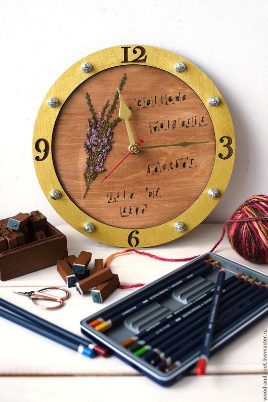 Часы для дома ручной работы. Ярмарка Мастеров - ручная работа. Купить Часы-основа для создания гербария. Handmade. Гербарий, Декор