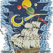 Материалы для творчества ручной работы. Ярмарка Мастеров - ручная работа Вперед к неизведанному. Рисунок на ткани для вышивки бисером.. Handmade.