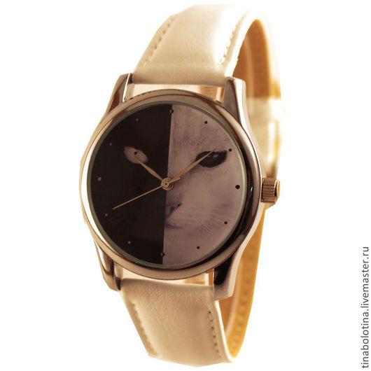 Часы ручной работы. Ярмарка Мастеров - ручная работа. Купить Дизайнерские наручные часы Черная кошка, белый кот. Handmade.
