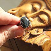 """Винтаж ручной работы. Ярмарка Мастеров - ручная работа Винтажное кольцо """"Ночной полет"""", серебро 925, петерсит натуральный. Handmade."""