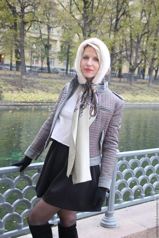 Предлагаем вашему вниманию - утепленный шелковый капюшон с норкой, скандинавская норка жемчуг (бархатная и плюшевая)