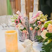Свадебный салон ручной работы. Ярмарка Мастеров - ручная работа Свадебное шампанское. Handmade.