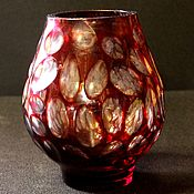 Винтаж handmade. Livemaster - original item Beautiful interior vase for flowers, manganese glass, USSR. Handmade.