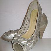 Винтаж ручной работы. Ярмарка Мастеров - ручная работа Туфли для выпускного или просто черевички для принцессы на 38 размер. Handmade.