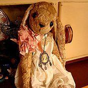 """Куклы и игрушки ручной работы. Ярмарка Мастеров - ручная работа Тедди-зайка """"Мамино колье"""". Handmade."""