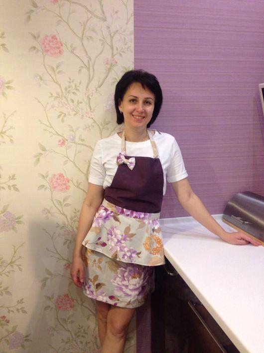 Кухня ручной работы. Ярмарка Мастеров - ручная работа. Купить Фартук с баской. Handmade. Фартук, баска, для кухни