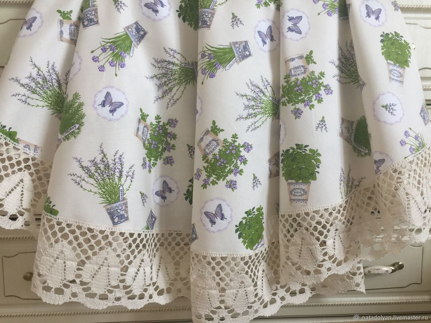 Home Textiles & Carpets handmade. Livemaster - handmade. Buy Tablecloth 'French Provence' in the presence of round.