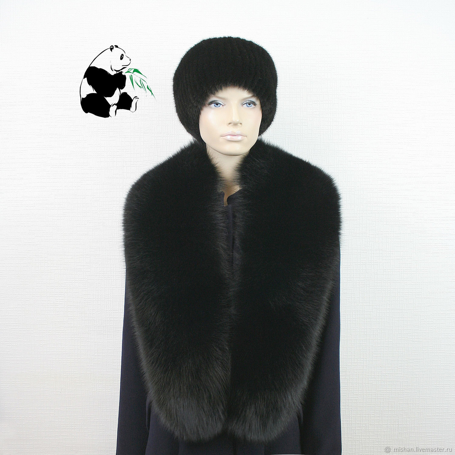 Elegant big detachable fur collar from fur of the Finnish Arctic Fox BH-21, Collars, Ekaterinburg,  Фото №1