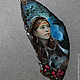 Кулоны, подвески ручной работы. Тайга (портрет). Светлана Беловодова. Интернет-магазин Ярмарка Мастеров. Лаковая миниатюра, агат натуральный