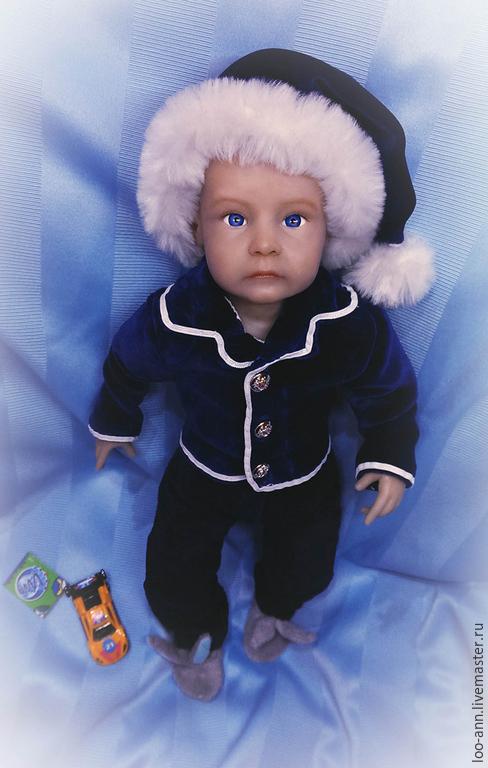 Портретные куклы ручной работы. Ярмарка Мастеров - ручная работа. Купить Малыш :). Handmade. Тёмно-синий, кукла