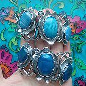 Украшения handmade. Livemaster - original item 201 silver Bracelet with stones. Handmade.