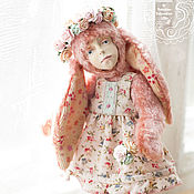 Куклы и игрушки ручной работы. Ярмарка Мастеров - ручная работа Тедди долл зайка Туся + румбокс / комплект одежды. Handmade.