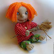 Куклы и игрушки ручной работы. Ярмарка Мастеров - ручная работа Авторская чулочная кукла Домовенок Кузя. Handmade.