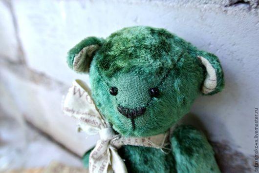 Мишки Тедди ручной работы. Ярмарка Мастеров - ручная работа. Купить Мишка Старый друг. Handmade. Тёмно-зелёный