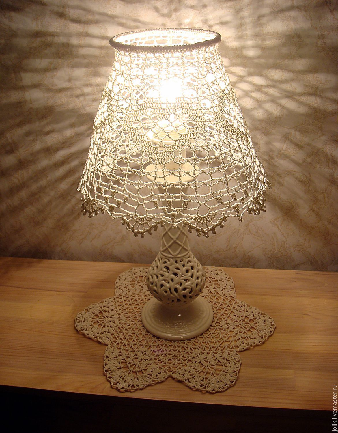 Brand new Lampshade for table lamp, crocheted – shop online on Livemaster  TK47