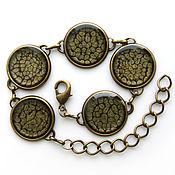 Украшения handmade. Livemaster - original item Bracelet with painted gray-black color. Handmade.
