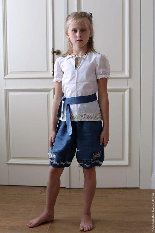 """Пляжные брюки, шорты ручной работы. Ярмарка Мастеров - ручная работа. Купить детские шорты"""" Бегущие в  лето"""". Handmade."""