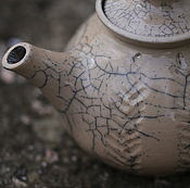 Посуда ручной работы. Ярмарка Мастеров - ручная работа Чайник Раку. Раку керамика. Handmade.