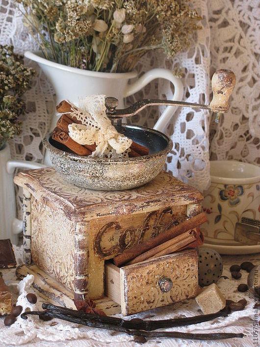 """Кухня ручной работы. Ярмарка Мастеров - ручная работа. Купить """" Французские кружева..."""" Кофемолка.. Handmade. Бежевый, кружево"""