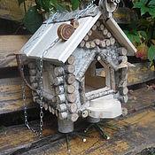 Для дома и интерьера ручной работы. Ярмарка Мастеров - ручная работа Избушка на курьих ножках - кормушка для птиц. Handmade.