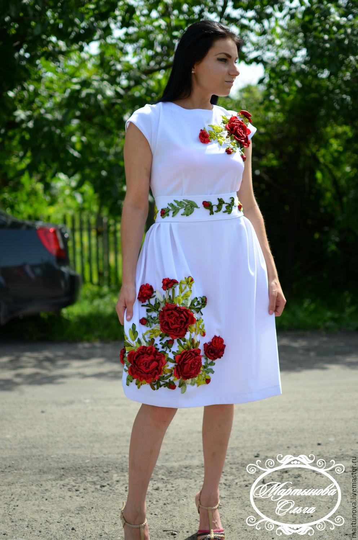 Платья ручной работы. Ярмарка Мастеров - ручная работа. Купить Платье  вышитое лентами Муза. ... 8f8b0a44c9e92