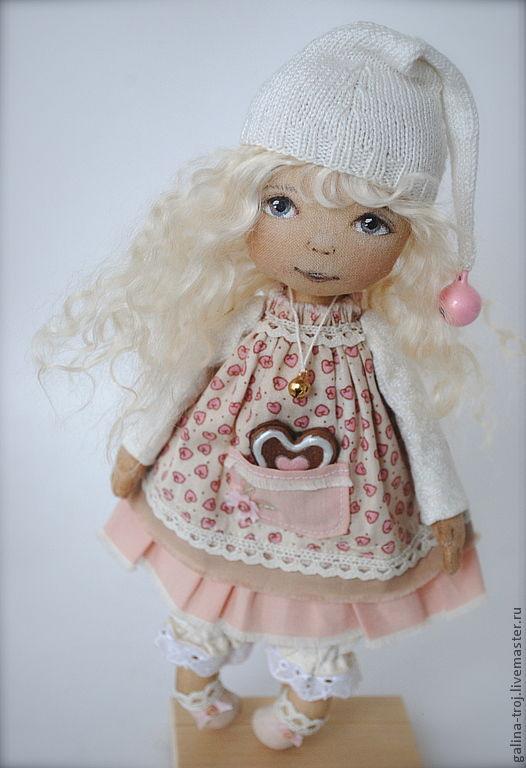 Коллекционные куклы ручной работы. Ярмарка Мастеров - ручная работа. Купить Гномочка-малышка. Handmade. Бледно-розовый, хлопок 100%