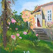 Картины и панно ручной работы. Ярмарка Мастеров - ручная работа Картина. Абхазия. Все в цветах. Handmade.