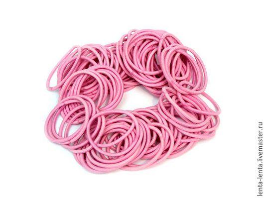 Для украшений ручной работы. Ярмарка Мастеров - ручная работа. Купить Резинка для волос, основа. Розовая.. Handmade. Розовый