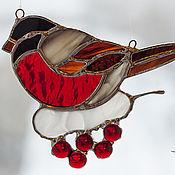 Для дома и интерьера ручной работы. Ярмарка Мастеров - ручная работа Интерьерная подвеска  из стекла Снегирь new. Handmade.