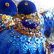 Подарки к праздникам ручной работы. Ярмарка Мастеров - ручная работа ПТИЧКИ НА ЕЛКУ бархатные. Handmade.