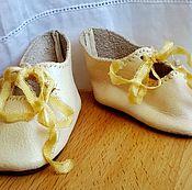 Куклы и игрушки ручной работы. Ярмарка Мастеров - ручная работа Туфли для куклы № 4. Handmade.