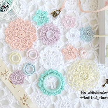 Materials for creativity handmade. Livemaster - original item A set of Watercolors knitted decor for scrap. Handmade.