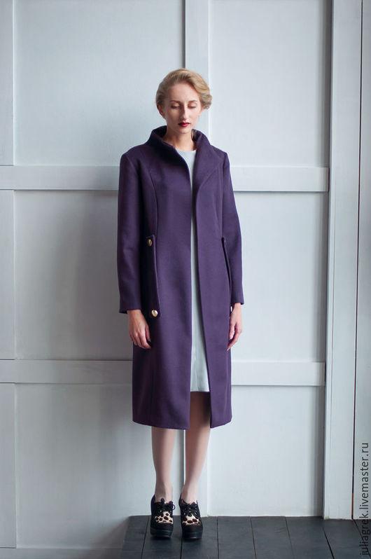 Верхняя одежда ручной работы. Ярмарка Мастеров - ручная работа. Купить Пальто с цельнокроеной стойкой. Handmade. Пальто, модная одежда
