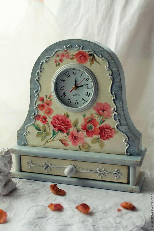"""Часы для дома ручной работы. Ярмарка Мастеров - ручная работа. Купить Часы настольные, каминные """" Старинные часы еще идут"""". Handmade."""