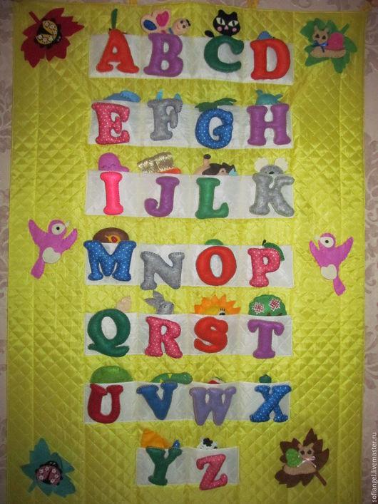 Развивающие игрушки ручной работы. Ярмарка Мастеров - ручная работа. Купить Английский алфавит из фетра. Handmade. Желтый, азбука