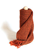 """Аксессуары ручной работы. Ярмарка Мастеров - ручная работа Шарф-палантин кашемировый тканый """"Рыжая осень""""  Тканый шарф. Handmade."""