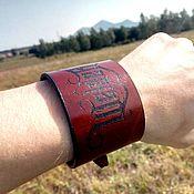 """Браслет из бусин ручной работы. Ярмарка Мастеров - ручная работа Браслет кожаный мужской BRC-09 """"Welder"""". Handmade."""
