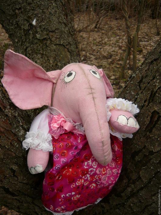 Игрушки животные, ручной работы. Ярмарка Мастеров - ручная работа. Купить текстильная игрушка РОЗОВЫЙ СЛОН  МАНЯША. Handmade. Розовый
