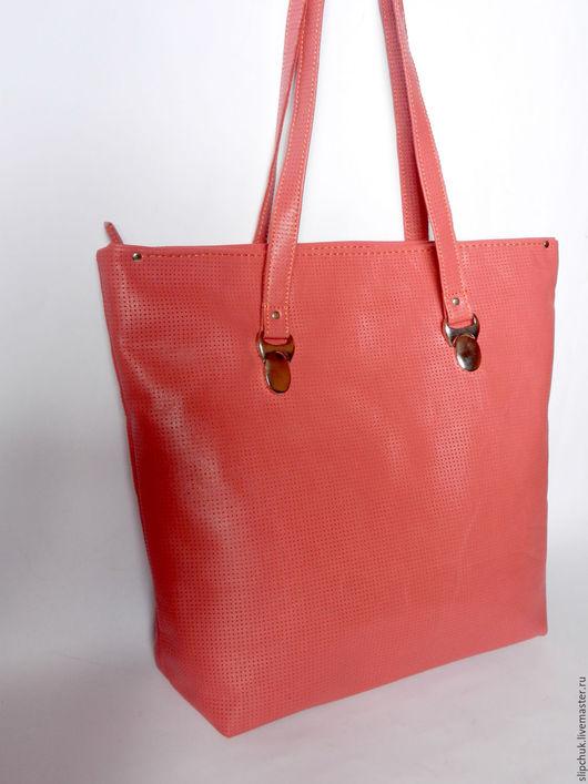 Женские сумки ручной работы. Ярмарка Мастеров - ручная работа. Купить Кожаная сумка-тоут «Коралловый риф», пляжная сумка, сумка шоппер. Handmade.
