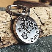 Адресники ручной работы. Ярмарка Мастеров - ручная работа Адресник медальон для собаки DAKOTA. Handmade.